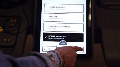 Prototype of a new voting system in L.A. County.