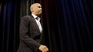 Image: Democratic presidential candidate Sen. Cory Booker of New Jersey