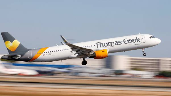 Image: FILE PHOTO: A Thomas Cook Airbus A321 airplane takes off at the airp