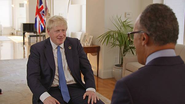 British Prime Minister Boris Johnson is interviewed by Lester Holt.