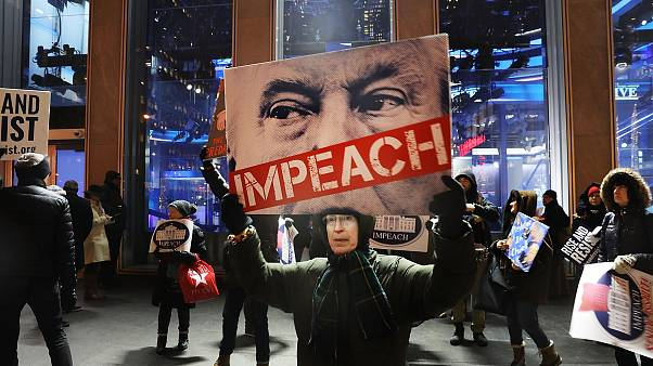 Image: Protestors In NYC Call For Trump Impeachment For Acts Of Sexual Assa