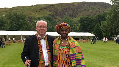 Un couple ghanéo-écossais suscite l'admiration sur Twitter