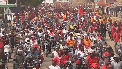 Tens of thousands protest in Togolese capital,the third this week.