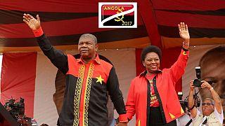 Angola's Pres. Lourenco excites revelers at a beach in Luanda