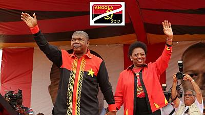 Angola's Pres. Lourenco excites revelers at a beach in Luanda