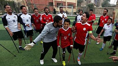 One-legged footballers in Egypt aspire to a league of their own