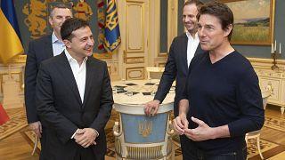 Image: Ukrainian President Volodymyr Zelenskiy and American actor, film dir