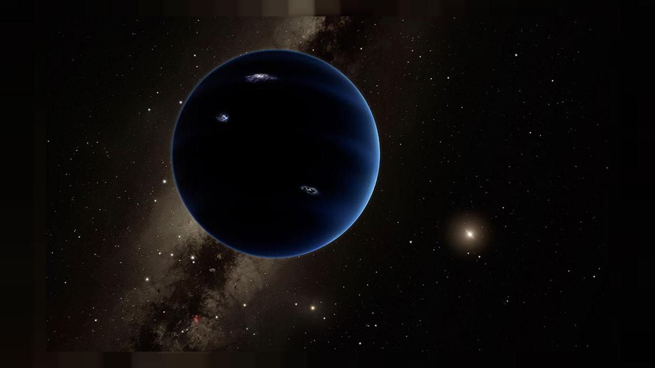 Image: This artistic rendering shows the distant view from Planet Nine back