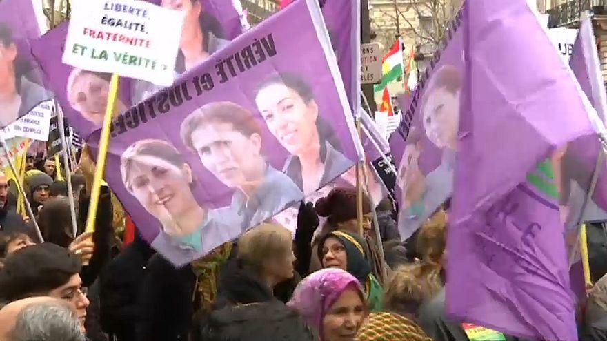 تظاهرات في باريس للمطالبة بالعدالة في قضية اغتيال ثلاثة نشطاء أكراد