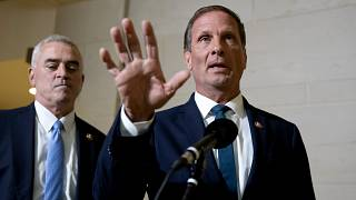 Image: Rep. Chris Stewart, R-Utah, speaks to reporters on Capitol Hill on O