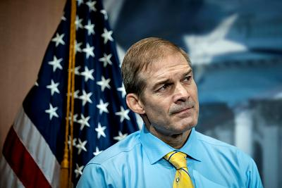 Rep. Jim Jordan, R-Ohio, listens during a press conference on Capitol Hill on Sept. 25, 2019.