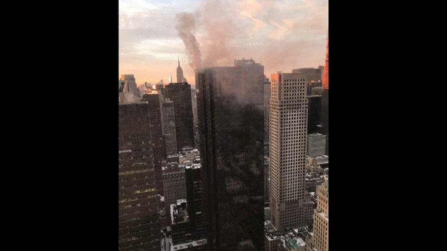 حريق في برج ترامب