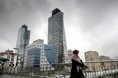 Trump Towers are seen in Sisli district in Istanbul, Turkey on Dec. 11, 2015.
