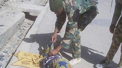 [Photos] Nigeria army averts suicide attack by three girls in Borno State