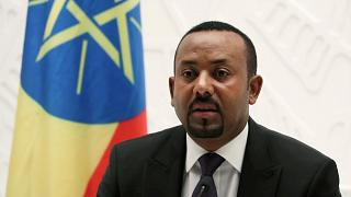 Image: Ethiopia's Prime Minister Abiy Ahmed speaks at a news conference at