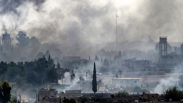Image: Smoke rises over the Syrian town of Tel Abyad as Turkey continues a