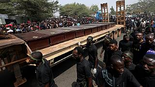 Nigeria holds mass burial for 73 people killed in communal violence