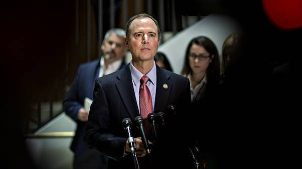 Image: House Intelligence Committee Chairman Adam Schiff at a news conferen