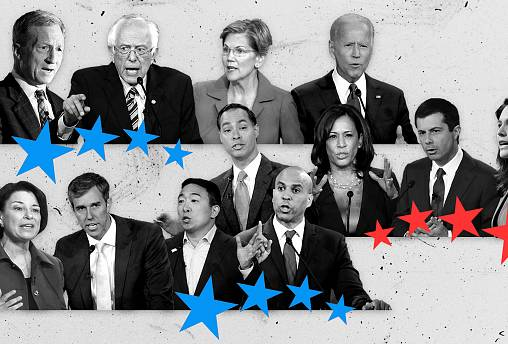 Image: Twelve candidates will take the stage in a Democratic presidential p