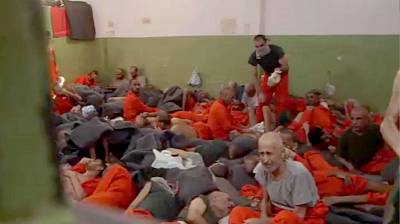 Inside an ISIS prison in northeast Syria. None of the inmates who spoke to NBC News said they had been ISIS fighters.