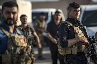 Members of the special forces of the Kurdish-led Syrian Democratic Forces (SDF) during preparations to join the front against Turkish forces, on Oct. 10, 2019, near the northern Syrian town of Hasakah.