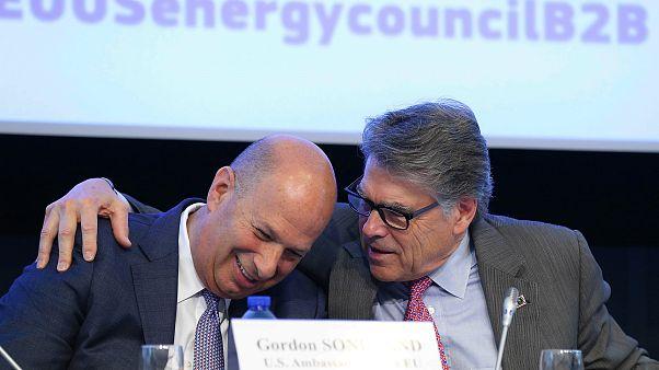 Image; Gordon Sondland, Rick Perry, EU-U.S Energy Council B2B Forum on LNG