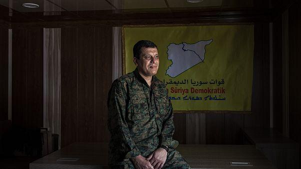 Image: Mazlum Kobani, the commander of the American-backed Syrian Democrati