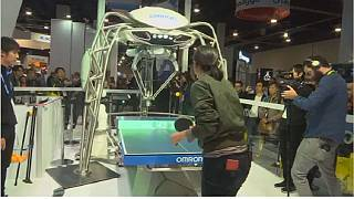 Ping-pong-playing robot amuses CES attendees