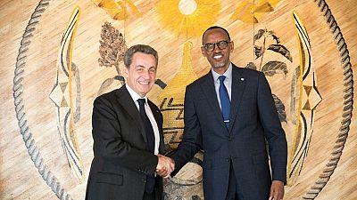 Nicolas Sarkozy reçu au Rwanda par Paul Kagame