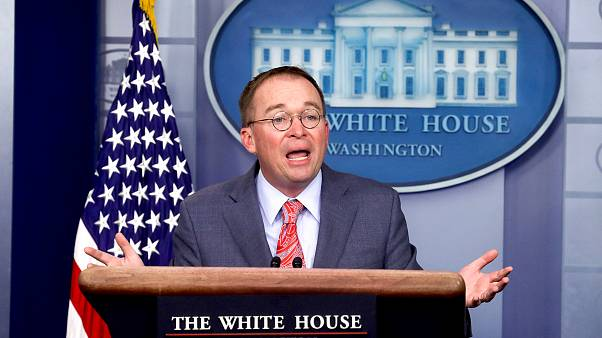 Image: Acting White House Chief of Staff Mulvaney addresses media briefing