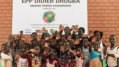Didier Drogba opens fully furnished school for Ivorian village