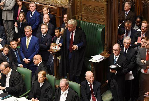 Speaker John Bercow speaks during a debate on Brexit in London