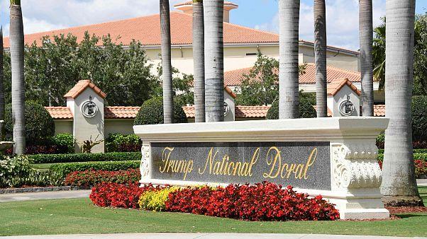The entrance of Trump National Doral in Miami, Florida.