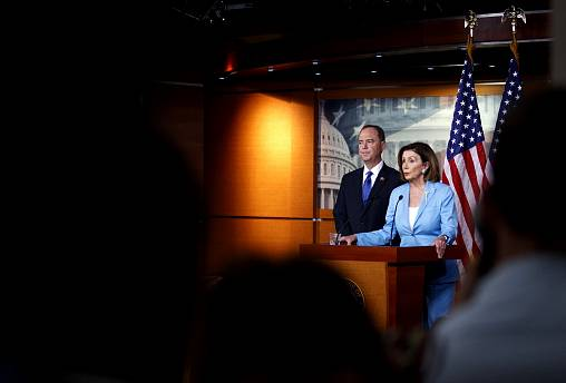 Image: House Intelligence Committee Chairman Adam Schiff and House Speaker