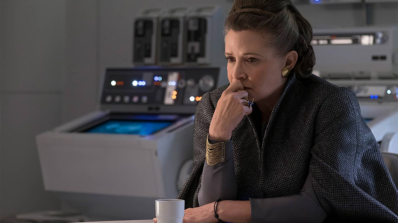 Image; Carrie Fisher stars in The Last Jedi