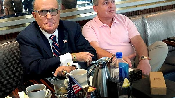 Image: Rudy Giuliani has coffee with Ukrainian-American businessman Lev Par