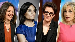 Image; Ashley Parker, Kirsten Welker, Rachel maddow, Andrea Mitchell