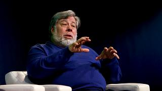 Image: Steve Wozniak speaks at a screening in Mountain View, Calif., on Jan