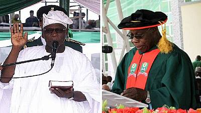 Ex Nigeria president Obasanjo attains PhD, 11 years after office