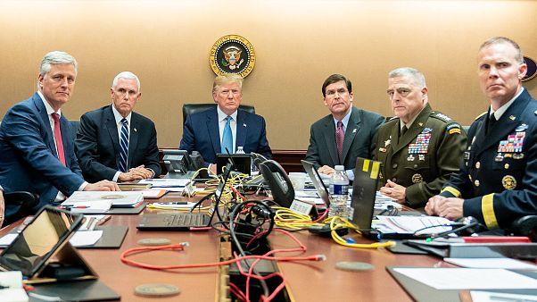 Image: Donald Trump Watches Raid On Abu Bakr al-Baghdadis Compound