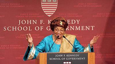 [Photos] Africa's first female president: Liberia's Ellen Johnson Sirleaf