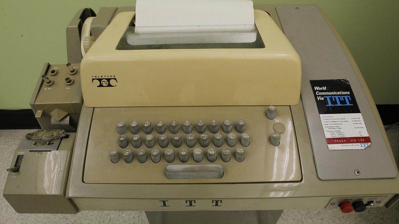 Image: A teletype similar to one used to communicate with the Sigma 7 compu