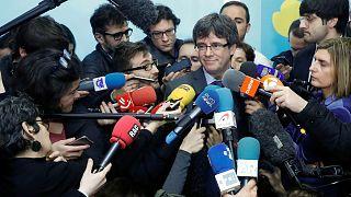 Puigdemonts sagt nicht, ob er zu seiner Wahl nächste Woche nach Spanien zurückkehrt