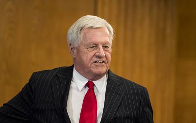 Rep. Collin Peterson attends the eighth annual Minnesota Congressional Delegation Hotdish Competition in the Dirksen Senate Office Building on April 25, 2018.