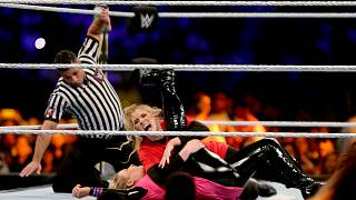 Image: Natalya and Lacey Evans battle at the WWE Crown Jewel match in Riyad