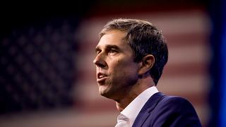 Image: Beto O'Rourke speaks at the New Hampshire Democratic Party Conventio