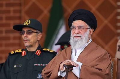 Supreme Leader Ayatollah Ali Khamenei, right.