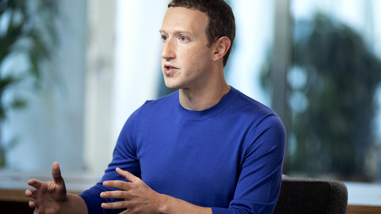 Image: Mark Zuckerberg speaks during an interview with Lester Holt at Faceb