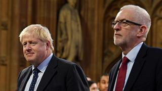 Image: Britain's Prime Minister Boris Johnson and main opposition Labour Pa