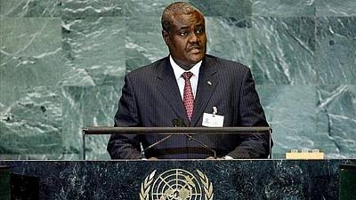 """""""Il est impératif de sanctionner le Soudan du Sud"""" (Moussa Faki Mahamat)"""